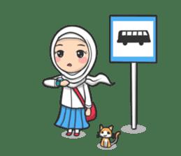 Flower  Hijab sticker #214326