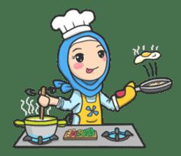 Flower  Hijab sticker #214329