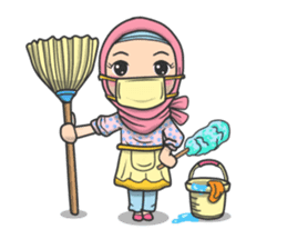 Flower  Hijab sticker #214330