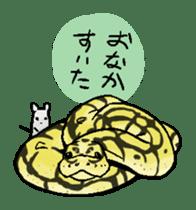 Python with Japanese message sticker #215144