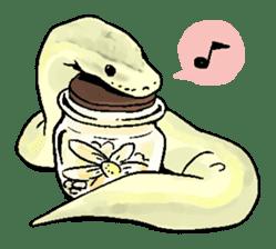 Python with Japanese message sticker #215160