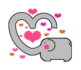 Elephant's Heart sticker #217313