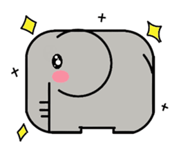 Elephant's Heart sticker #217328