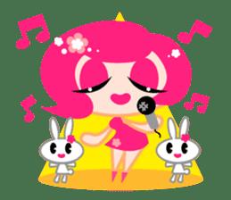 Pinky Girl sticker #218045