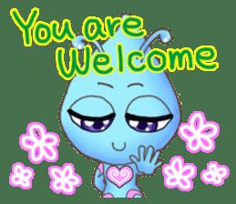"""""""Pleia"""" The Cute Alien part 1 (English) sticker #880646"""
