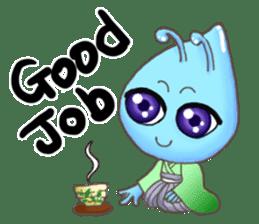 """""""Pleia"""" The Cute Alien part 1 (English) sticker #880651"""