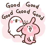 สติ๊กเกอร์ไลน์ Pisuke&Rabbit.3(English) by Kanahei