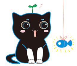 A Cat Named Moemoeme Shirokuroneko sticker #2035057