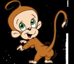 Rocky the Chimp & Miss Mia! sticker #3040462