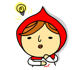 Little Red Riding-Hood.ENGLISH ver sticker #3176484