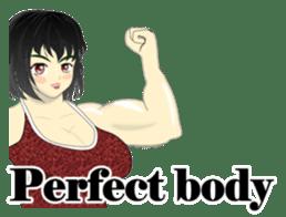 Pretty Muscle girls English Ver. sticker #6200085