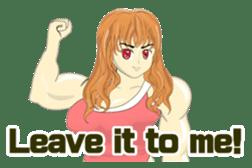 Pretty Muscle girls English Ver. sticker #6200101
