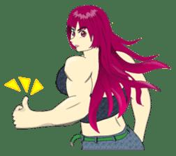Pretty Muscle girls English Ver. sticker #6200111