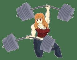Pretty Muscle girls English Ver. sticker #6200112
