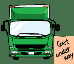 trucker(english) sticker #7098360