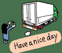 trucker(english) sticker #7098362