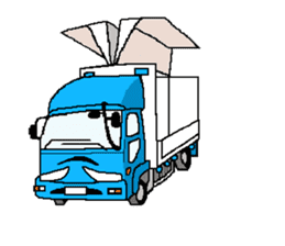 trucker(english) sticker #7098365