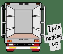 trucker(english) sticker #7098367