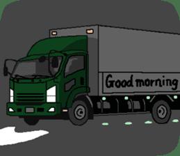 trucker(english) sticker #7098368