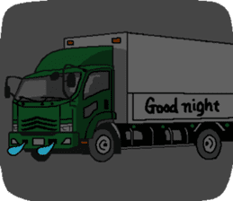 trucker(english) sticker #7098369