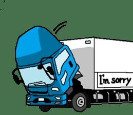 trucker(english) sticker #7098370