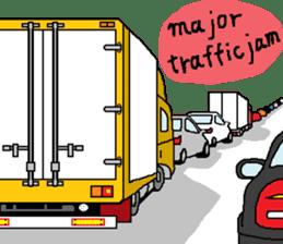 trucker(english) sticker #7098371