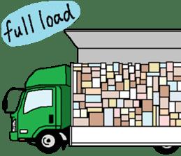 trucker(english) sticker #7098375