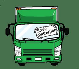 trucker(english) sticker #7098376