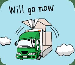 trucker(english) sticker #7098377