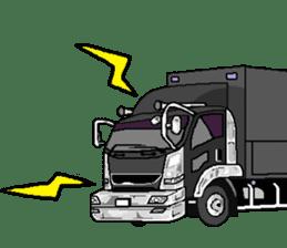 trucker(english) sticker #7098379