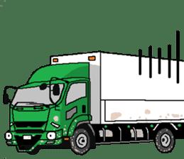 trucker(english) sticker #7098384