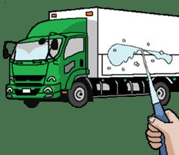 trucker(english) sticker #7098385