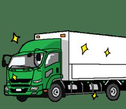 trucker(english) sticker #7098386