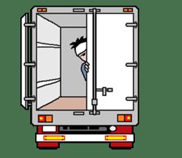 trucker(english) sticker #7098389
