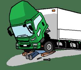trucker(english) sticker #7098391