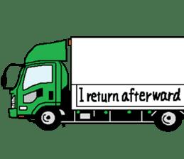 trucker(english) sticker #7098397