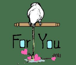 Mischievous parrot sticker #8562212