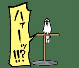 Mischievous parrot sticker #8562218