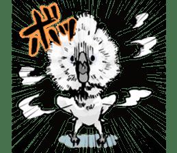 Mischievous parrot sticker #8562227