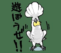 Mischievous parrot sticker #8562230