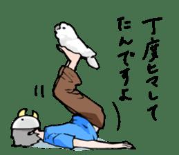 Mischievous parrot sticker #8562248