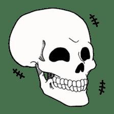 Simple skull. sticker #9393867