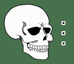 Simple skull. sticker #9393868