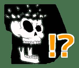 Simple skull. sticker #9393880