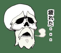Simple skull. sticker #9393898