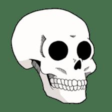 Simple skull. sticker #9393899