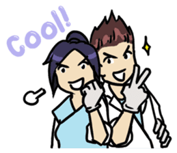 Dentist guy & girl [ENG] sticker #10084995