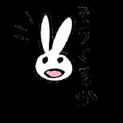 funny rabbit sticker!