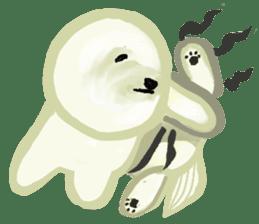 DOGGY KUMA HAPPY LIFE!!!! sticker #11893317