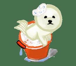 DOGGY KUMA HAPPY LIFE!!!! sticker #11893326
